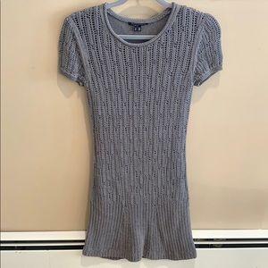 Theyskens' Theory Gray Sweater Dress Size Small